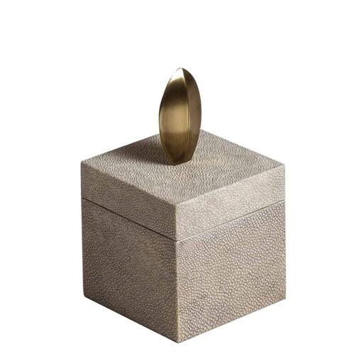 Tall Square Box (Antique Natural Shagreen)