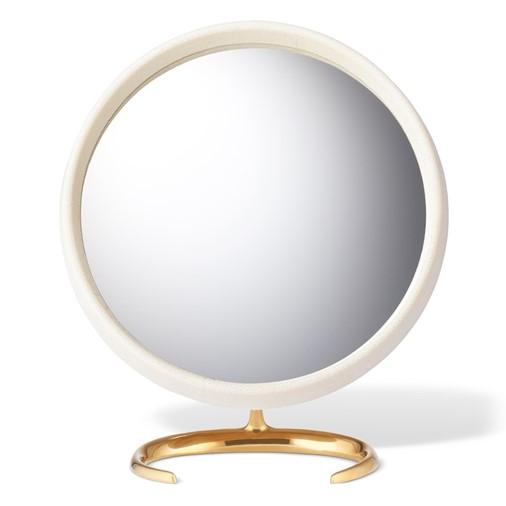 Shagreen Vanity Mirror (Cream)