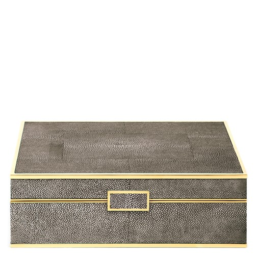 Classic Shagreen Large Jewelry Box (Chocolate)