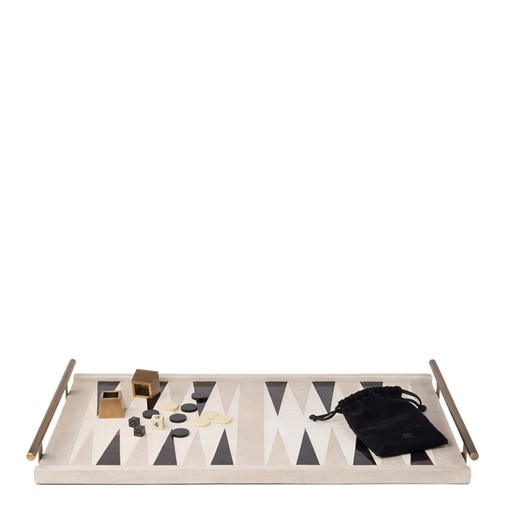 Backgammon Game Tray (Antique Natural Shagreen)