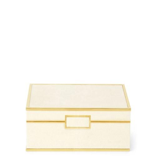 Classic Shagreen Small Jewelry Box (Cream)