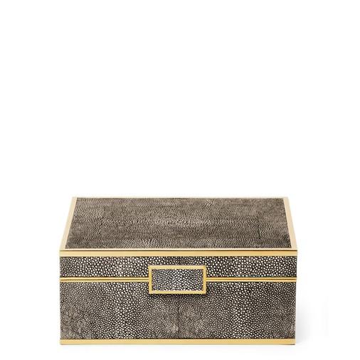 Classic Shagreen Small Jewelry Box (Chocolate)