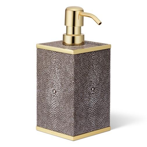Classic Shagreen Soap Pump Dispenser (Chocolate)