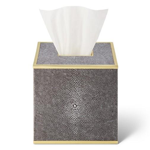 Classic Shagreen Tissue Box Cover (Chocolate)