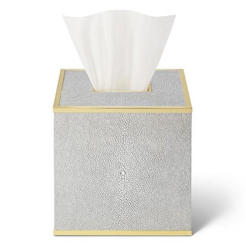 Classic Shagreen Tissue Box Cover (Dove)
