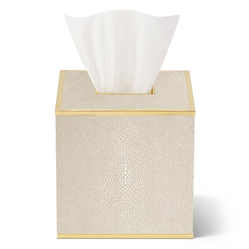 Classic Shagreen Tissue Box Cover (Wheat)