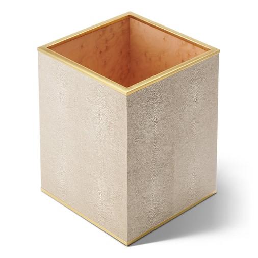 Classic Shagreen Wastebasket (Wheat)