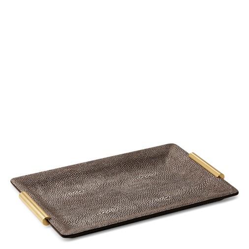 Shagreen Small Vanity Tray (Chocolate)