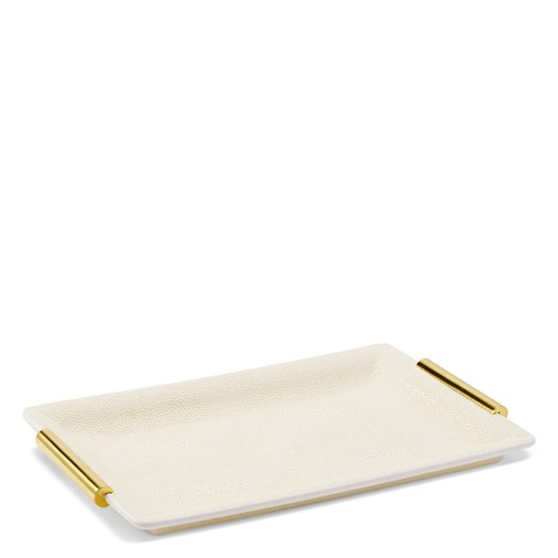 Shagreen Small Vanity Tray (Cream)