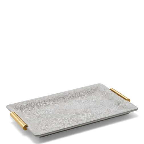 Shagreen Small Vanity Tray (Dove)