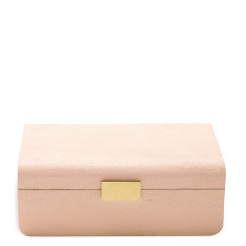 Modern Shagreen Large Jewelry Box (Blush)