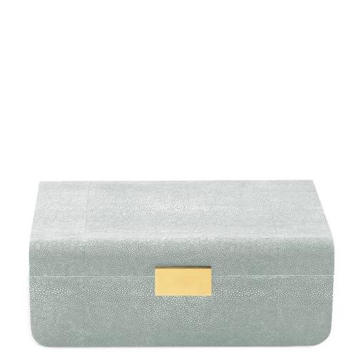 Modern Shagreen Large Jewelry Box (Mist)