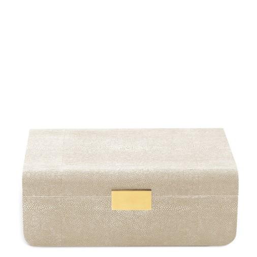 Modern Shagreen Large Jewelry Box (Wheat)