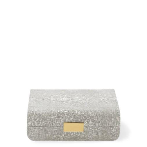 Modern Shagreen Small Jewelry Box (Dove)