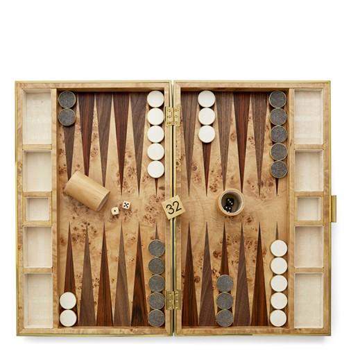 Shagreen Backgammon Set (Chocolate)