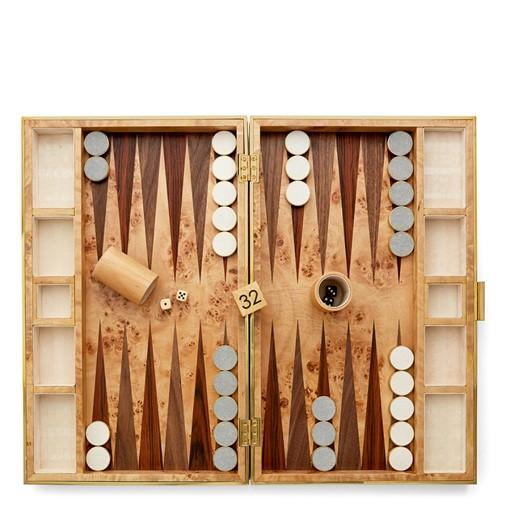 Shagreen Backgammon Set (Dove)