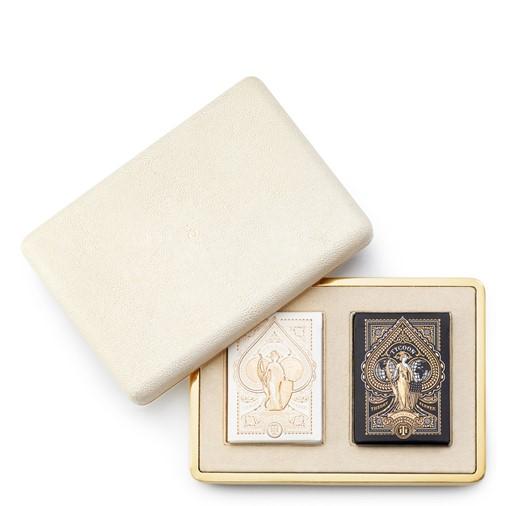 Shagreen Card Case (Cream)