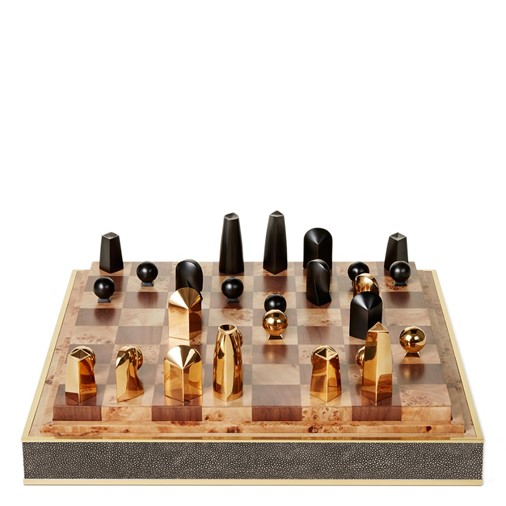 Shagreen Chess Set (Chocolate)