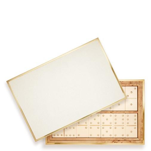 Shagreen Domino Set (Cream)