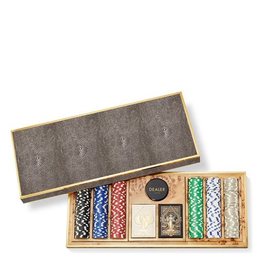Shagreen Poker Set (Chocolate)