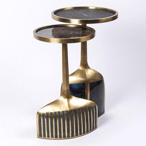 Pedestal Side Tables, Set Of 2