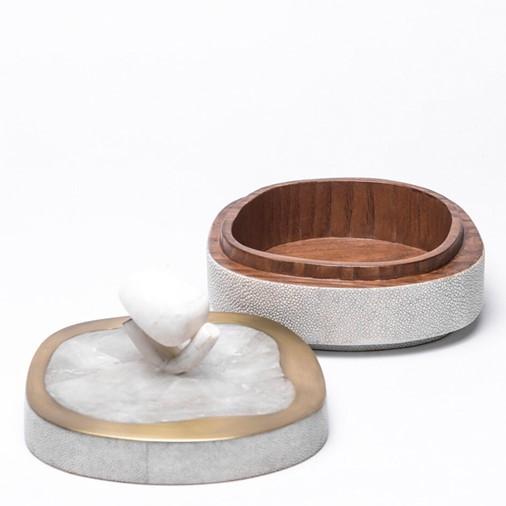 Amorphous Box w/Semi-Precious Stone Inlay