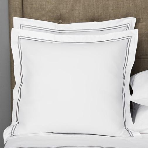 Hotel Classic Euro Sham (White/Grey)