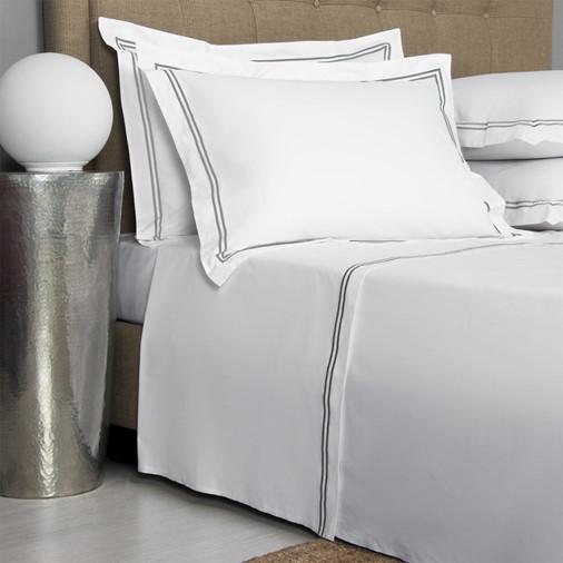 Hotel Classic Sheet Set - King (White/Grey)