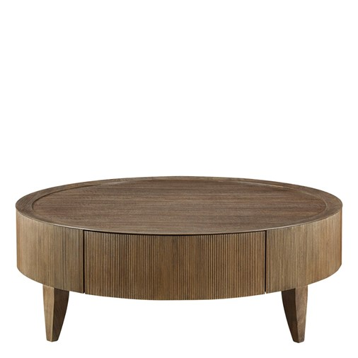 Reeded Round Cocktail Table