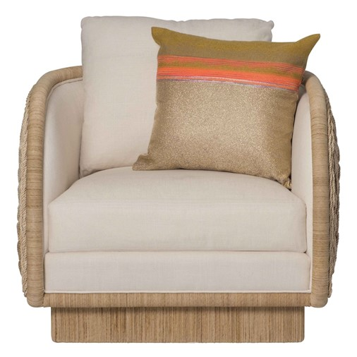 Coastal Braided Swivel Lounge Chair