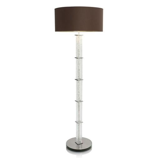 Crystal Floor Lamp w/ Cotton Shade
